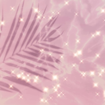 Fondo de imagen rosa brillo de hoja tropical