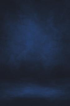 Fondo interior de hormigón negro y azul. escena vacia