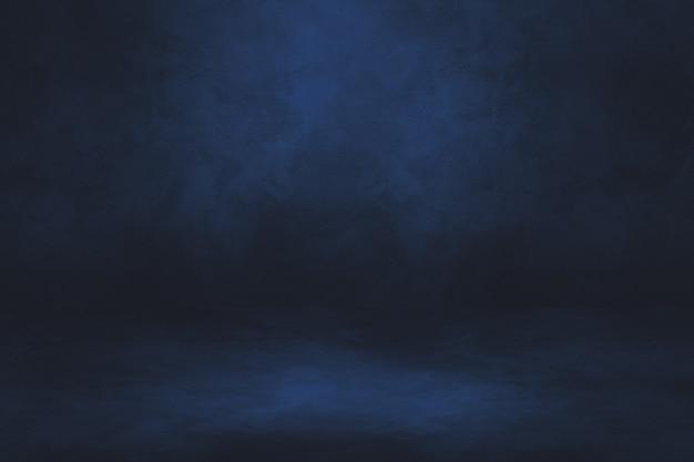 Fondo interior de hormigón negro y azul.