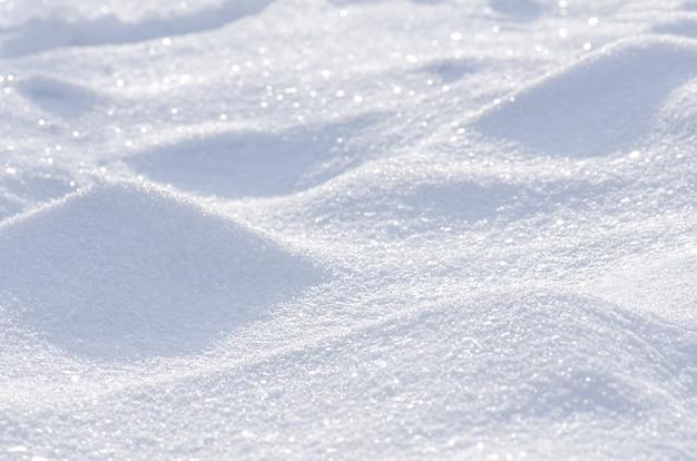 Fondo de invierno de nieve