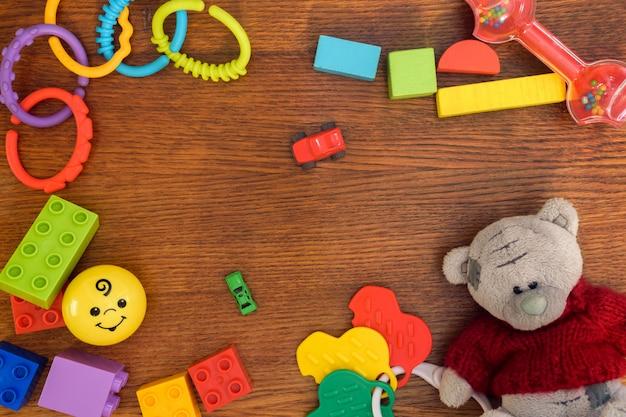 Fondo de juguetes para niños