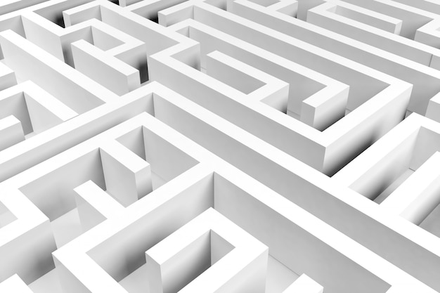 Fondo de laberinto, concepto complejo de resolución de problemas