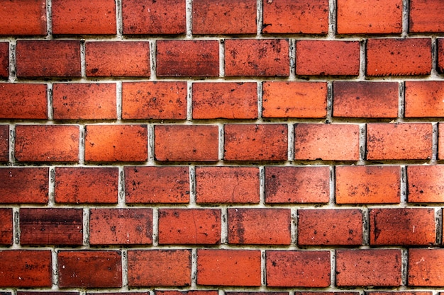 Fondo de ladrillo, pared de ladrillo rojo