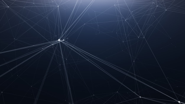 Fondo de línea abstracta de tecnología plexus