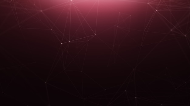 Fondo de línea abstracta de tecnología roja