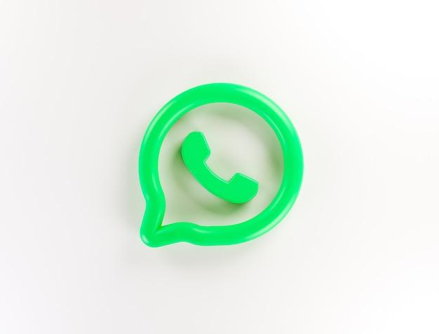 Fondo de logotipo de aplicación de whatsapp 3d