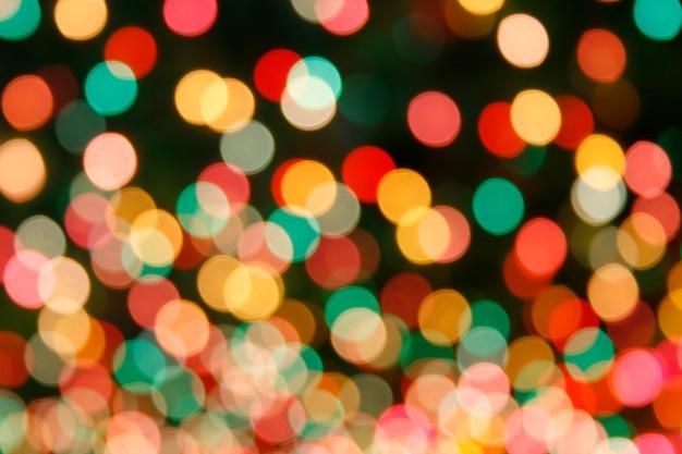 Fondo de luces de bokeh desenfocado multicolor