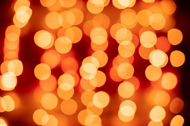 Fondo de luces borrosa bokeh rojo