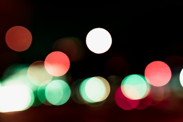 Un fondo de luces circulares bokeh iluminado