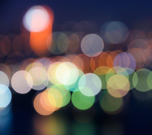 Fondo de luces de ciudad bokeh colorido
