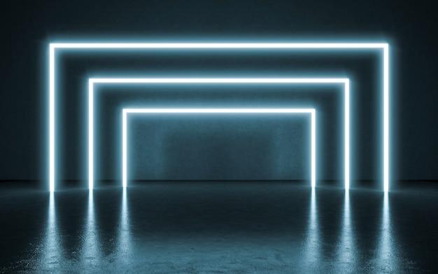 Fondo de luces de neón. 3d ilustración