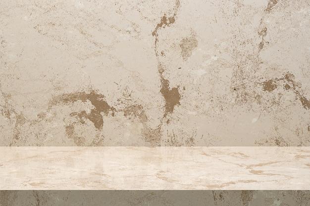 Fondo de lujo de mesa de mármol para expositor de productos con espacio de copia vacío