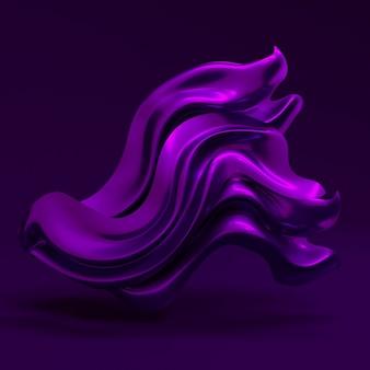 Fondo de lujo con tela de cortinas de color púrpura. ilustración 3d