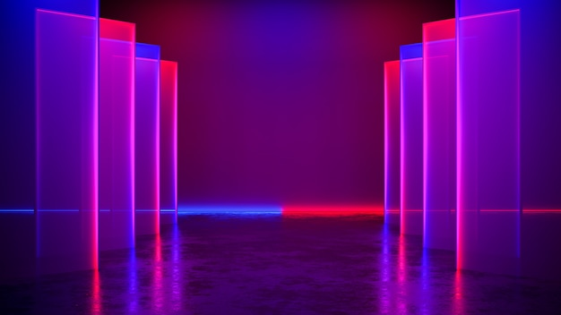 Fondo de luz de neón futurista moderno