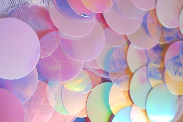 Fondo macro de lentejuelas en colores azul y rosa