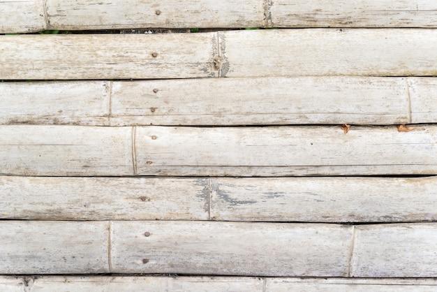 Fondo de madera de bambú del camino.
