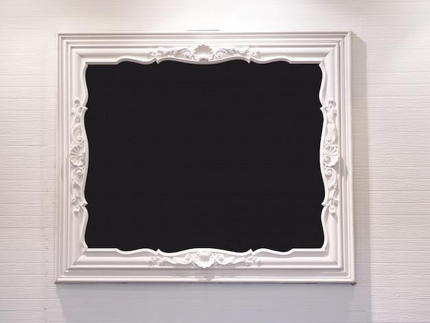 Fondo de madera blanco del extracto del marco de la foto.