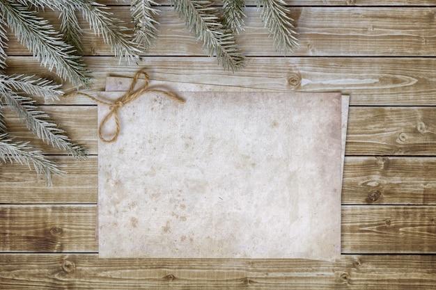 Fondo de madera de navidad