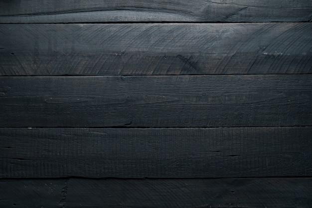Fondo de madera negra textura de madera oscura