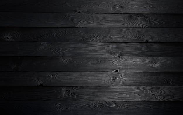 Fondo de madera negra, textura de madera vieja