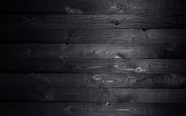 Fondo de madera negra, textura de tablones de madera vieja