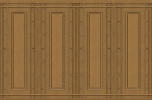 Fondo de madera de la pared del marrón cuadrado clásico de lujo del modelo de la forma.