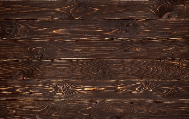 Fondo de madera, textura de tablones marrón rústico, viejo telón de fondo de pared de madera