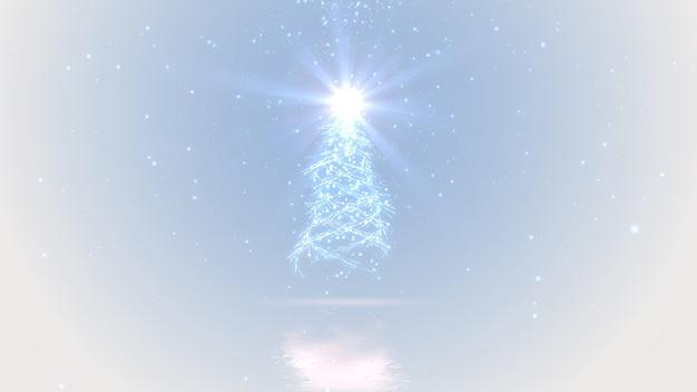 Fondo mágico de árbol de navidad y luces brillantes con copyspace