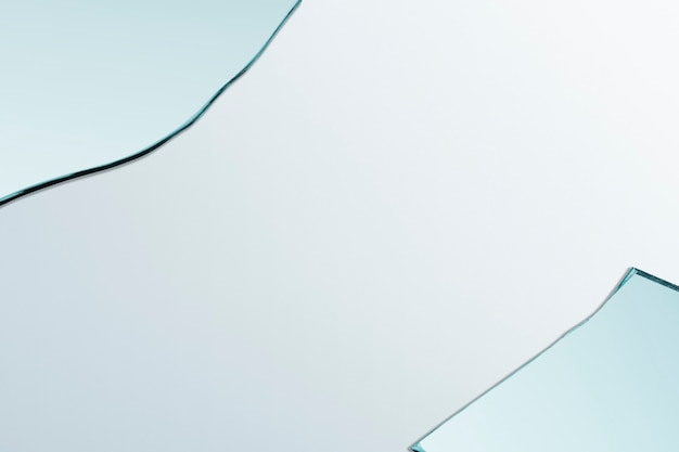 Fondo con marco de borde de fragmento de vidrio