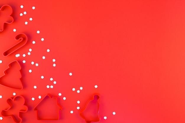 Fondo de marco de decoración de navidad