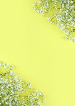 Fondo de marco de flores de primavera hermosa