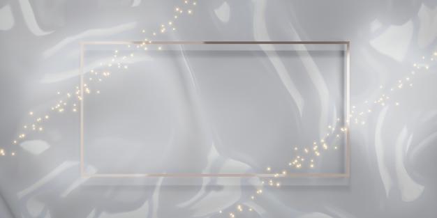 Fondo de marco de lujo con purpurina para pegar texto e ilustraciones en 3d de contenido