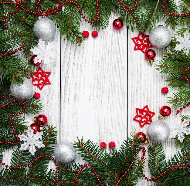 Fondo de marco de vacaciones de navidad