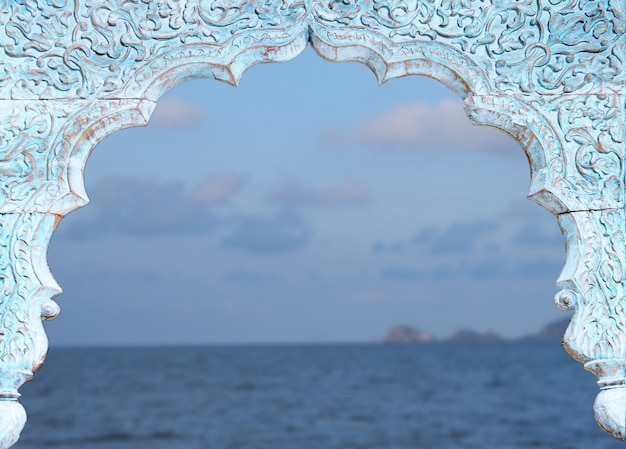 Fondo marino de ventana vintage