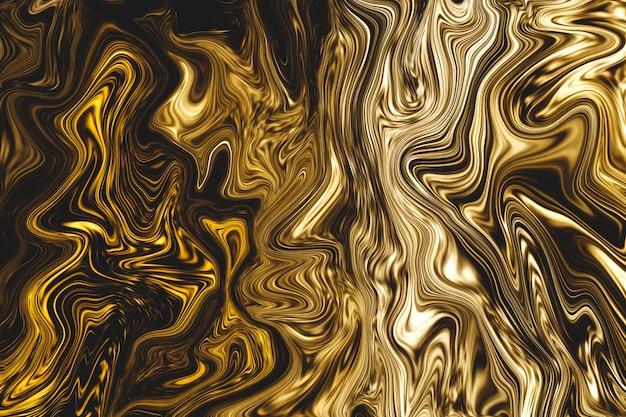 Fondo de mármol líquido dorado de lujo