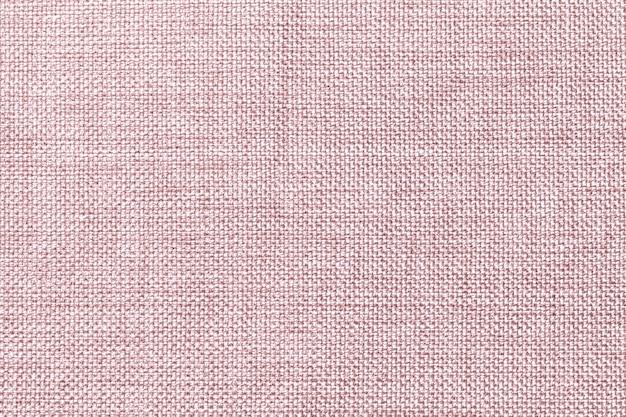 Fondo marrón claro de la tela de ensacado tejida densa, primer. estructura de la macro textil.