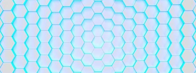 Fondo médico azul brillante hexagonal