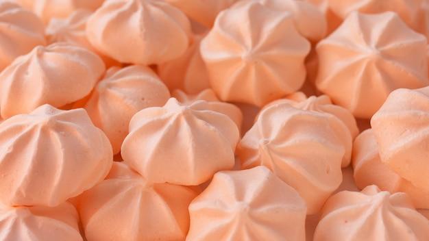 Fondo de merengues rosados de cerca
