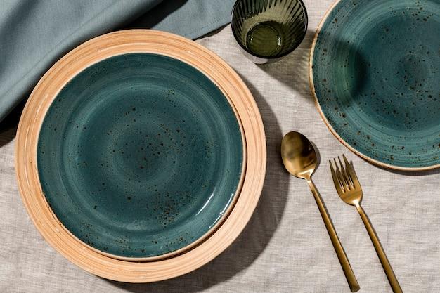 Fondo de mesa de cena estética