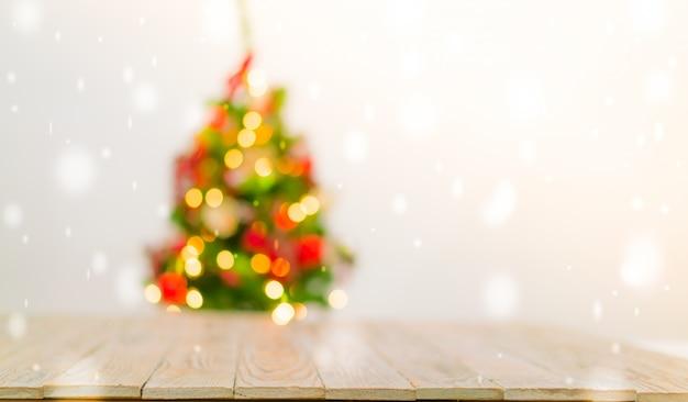Fondo de mesa de navidad con decoraciones