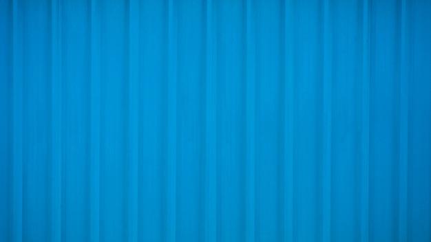Fondo de metal corrugado azul y superficie de textura