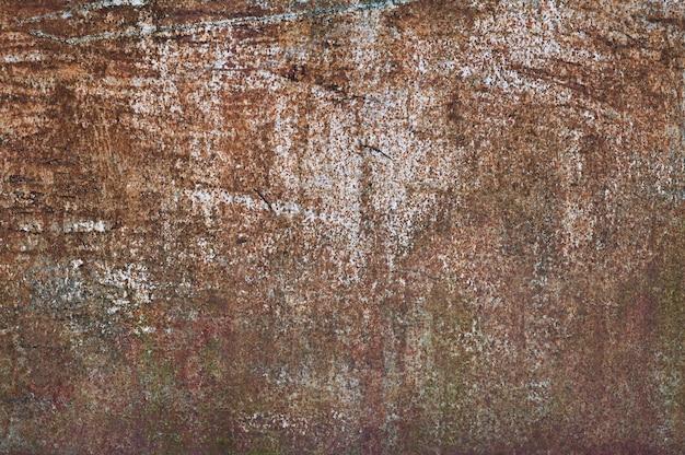 Fondo de metal marrón. vierte pintura textura de metal