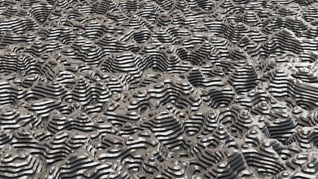 Fondo de metal negro con líneas. ilustración 3d, renderizado 3d.