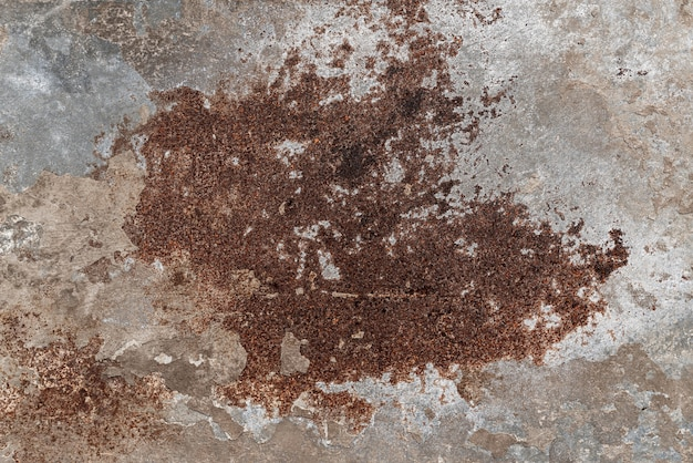 Fondo de metal oxidado con pintura astillada de grunge. textura de metal con arañazos y grietas. foto de stock