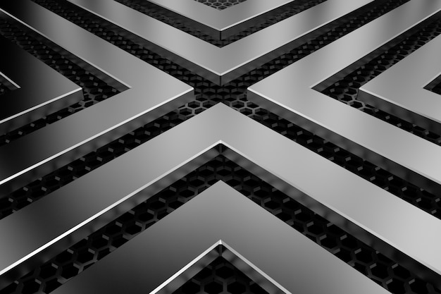 Fondo de metal representación 3d