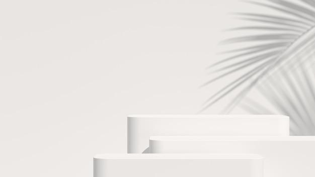 Fondo mínimo, escena simulada con podio para la exhibición del producto. renderizado 3d