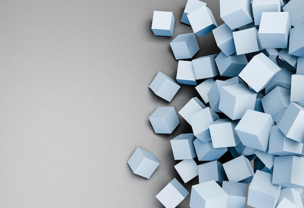 Fondo moderno con cubos geométricos