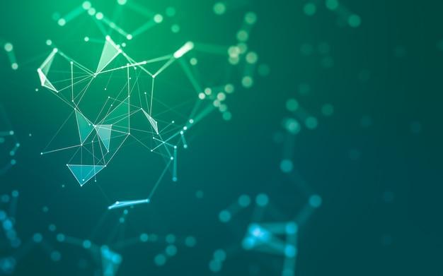 Fondo de moléculas con formas poligonales
