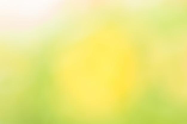 Fondo natural abstracto amarillo y verde