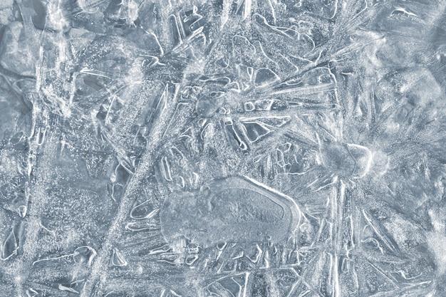 Fondo de naturaleza con patrones de hielo